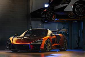 Обои McLaren Оранжевый 2018 MSO Senna машина