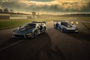 Обои McLaren Двое 2020 Novitec McLaren Senna Автомобили картинки