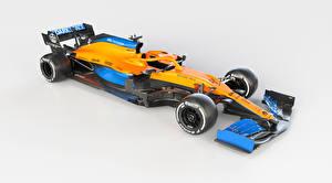 Картинки Макларен Формула 1 Тюнинг Серый фон 2020 MCL35 Автомобили Спорт
