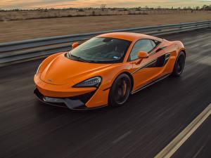Обои McLaren Оранжевые Металлик Едущая 2018–20 Hennessey McLaren 570