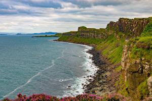 Картинка Шотландия Берег Камни Скала Isle of Skye Природа