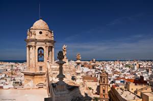 Картинка Испания Здания Собор Скульптура Catedral de Cádiz