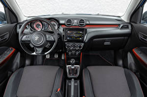 Обои для рабочего стола Сузуки Салоны Рулевое колесо Swift Sport Hybrid, 2020 автомобиль