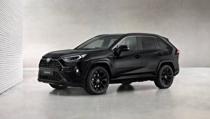 Картинка Тойота Черные Металлик RAV4 Hybrid, Black Edition, 2020 авто
