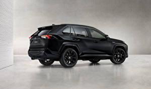 Картинка Тойота Черная Металлик RAV4 Hybrid, Black Edition, 2020 авто