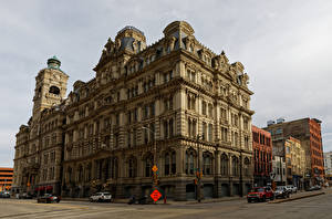 Обои Штаты Здания Банк Улица Milwaukee, Mitchell Building Города