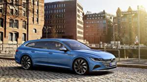 Фото Volkswagen Голубых Металлик Универсал 2020 Arteon Shooting Brake Elegance Worldwide авто