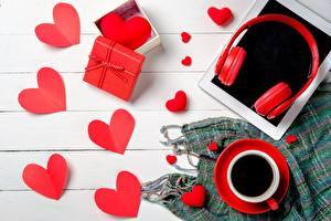 Обои Кофе Серце Подарки Наушники Доски