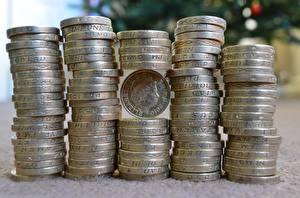 Фотографии Монеты Деньги Много Крупным планом pounds
