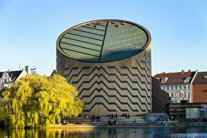 Фотография Копенгаген Дания Озеро Saint Joergens, planetarium Города