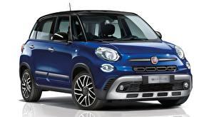 Обои Fiat Синий Металлик 500L, Cross Mirror, 2019 Автомобили