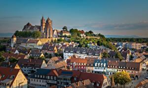 Фото Германия Дома Храмы Церковь Крыша Breisach am Rhein Города