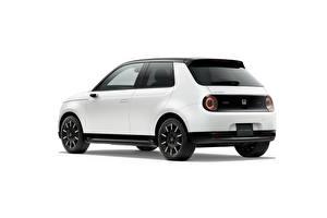 Фотографии Honda Белые Металлик Белый фон e, JP-spec, 2020 Автомобили