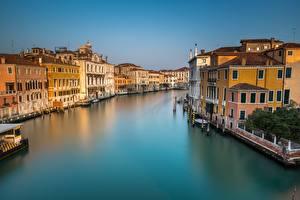 Фото Италия Здания Водный канал Венеция