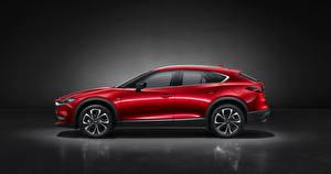 Фото Mazda Кроссовер Красная Металлик Сбоку CX-4, 2019 машины