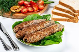 Фотография Мясные продукты Хлеб Kebab Еда