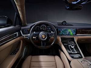 Картинка Porsche Салоны Автомобильный руль Panamera 4S E-Hybrid Executive, (971), 2020 авто