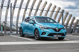 Фотография Рено Голубых Металлик Clio E-TECH, 2020 автомобиль