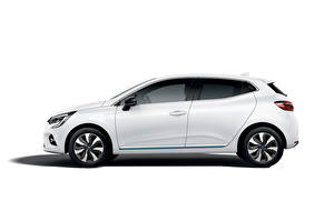 Фотографии Renault Белых Металлик Сбоку Clio E-TECH, 2020