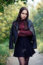 Фотография Фотомодель Поза Юбки Куртках Смотрят Rita, Evgeniy Bulatov молодая женщина