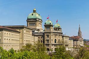 Фото Швейцария Берн Дворца Bundeshaus город