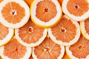 Картинка Текстура Грейпфрут Оранжевые Еда