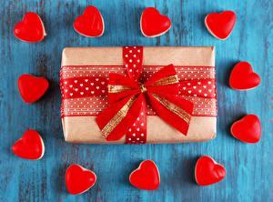 Картинки День всех влюблённых Подарков Бантики Сердечко