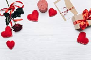 Фотография День святого Валентина Шаблон поздравительной открытки Сердечко Доски
