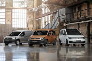 Фотография Фольксваген Три Минивэн 2020 Caddy Автомобили