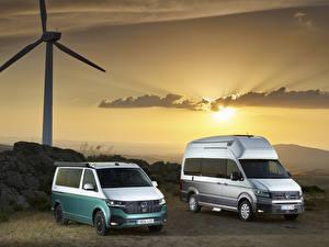 Фото Volkswagen Два Минивэн Volkswagen California, Volkswagen Grand California автомобиль