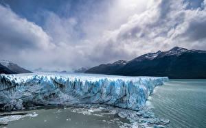Обои Аргентина Гора Парки Облака Льда Los Glaciares National Park Природа