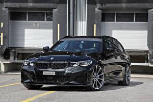 Обои для рабочего стола BMW Черные Металлик Универсал 2020 dahler M340i xDrive Touring авто