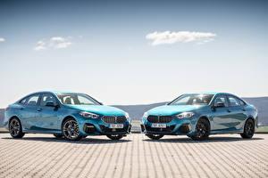 Фото БМВ Купе Голубых Металлик Двое 2020 2 Series Gran Coupé Автомобили