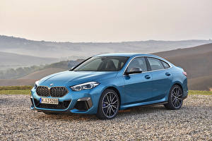 Фотографии BMW Голубой Купе 2020 M235i xDrive Gran Coupé Worldwide машины