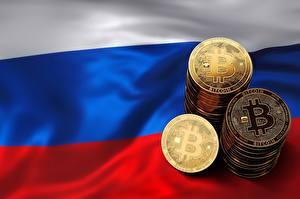 Обои Биткоин Россия Флага