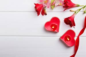 Обои Свечи Сердца Шаблон поздравительной открытки цветок