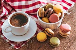 Фотографии Кофе Чашка Макарон Продукты питания
