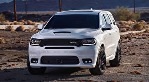 Картинка Dodge Внедорожник Спереди Белая Durango, SRT, 2017 авто