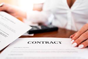 Картинка Пальцы Боке Лист бумаги Маникюра Слова Английская Бизнес contract