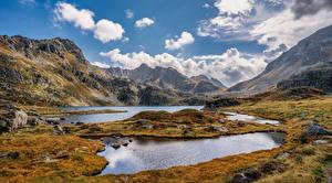 Фотография Франция Гора Камни Осенние Облако Pyrenees, Aston