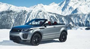 Обои Land Rover Снега Серебряный Кабриолет Металлик Evoque, Convertible Si4 HSE Dynamic, 2016 Автомобили