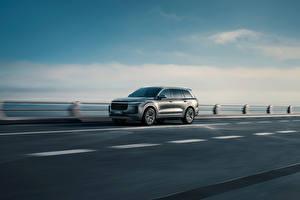 Картинки Дороги CUV Едущий Китайские Lixiang ONE, 2020 автомобиль