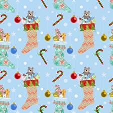 Фотография Текстура Рождество Носках