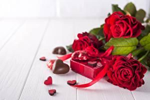 Фотография День всех влюблённых Конфеты Роза Сердечко