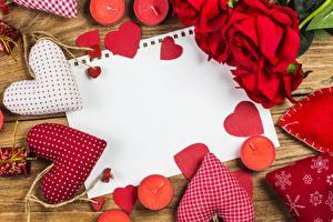 Обои День святого Валентина Розы Свечи Шаблон поздравительной открытки Сердечко