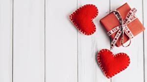 Фото День святого Валентина Шаблон поздравительной открытки Сердца Подарки