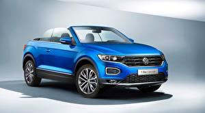 Фотографии Volkswagen Кабриолет Синие T-Roc, Cabriolet, 2020 Автомобили