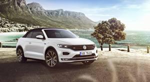 Фотографии Volkswagen Кабриолета Белый T-Roc, Cabriolet, R-Line, 2020 авто