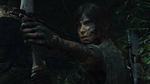 Фотографии Лучники Tomb Raider Грязный Руки Лара Крофт Shadow of the Tomb Raider компьютерная игра Девушки