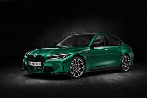 Фотография BMW Зеленый Металлик M3 Competition, (G80), 2020 Автомобили